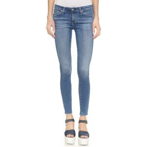Ag Raw Hem Legging Ankle Skinny Jean